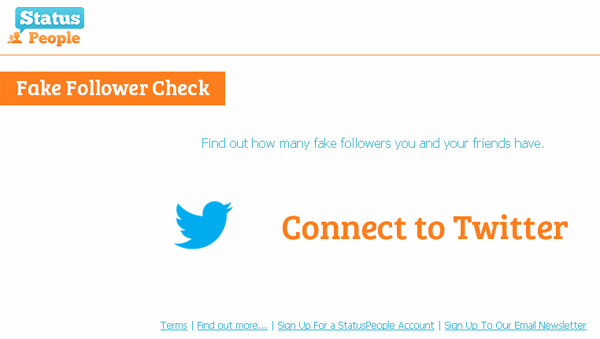 Fake Followers Check - Status People