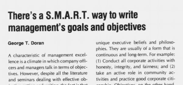 """There's a S.M.A.R.T. Way to Write Management's Goals and Objectives"""